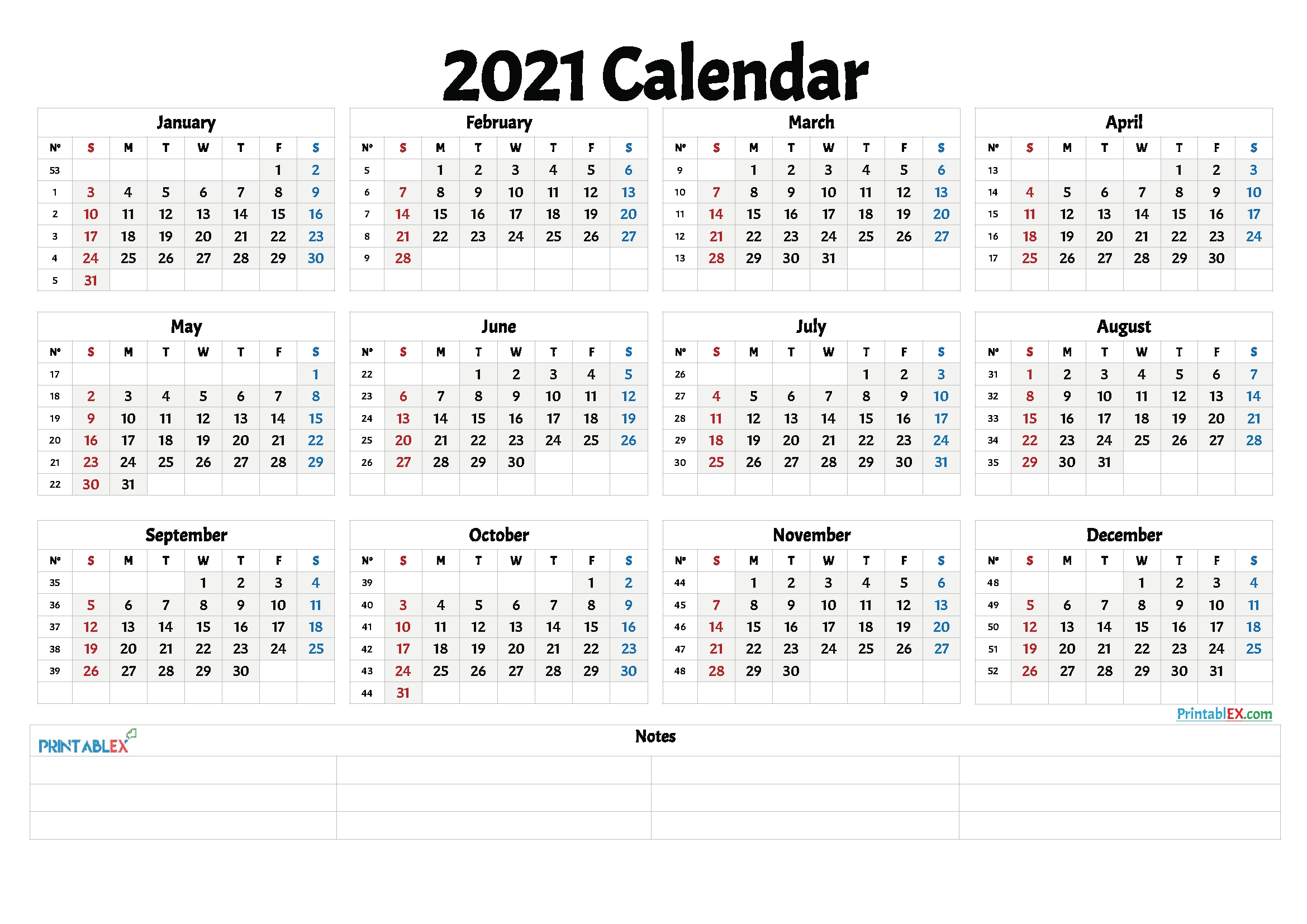 Create Your Printable Calendar 2021 No Download | Get Your ...