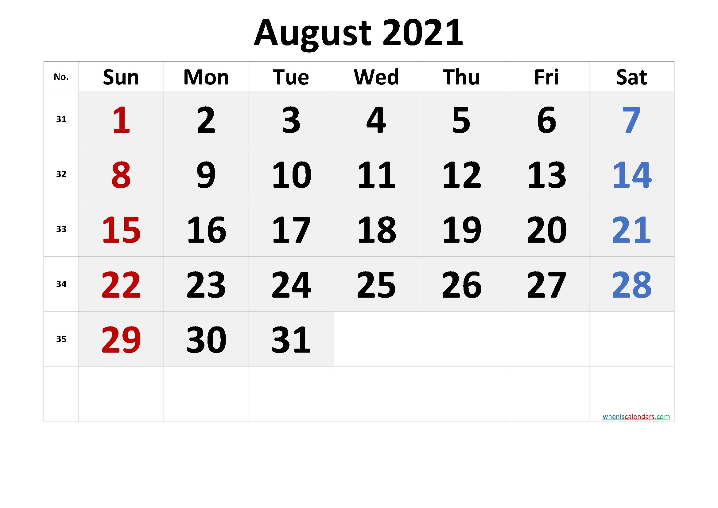 Free Printable August 2021 Calendar In 2020 | March Free