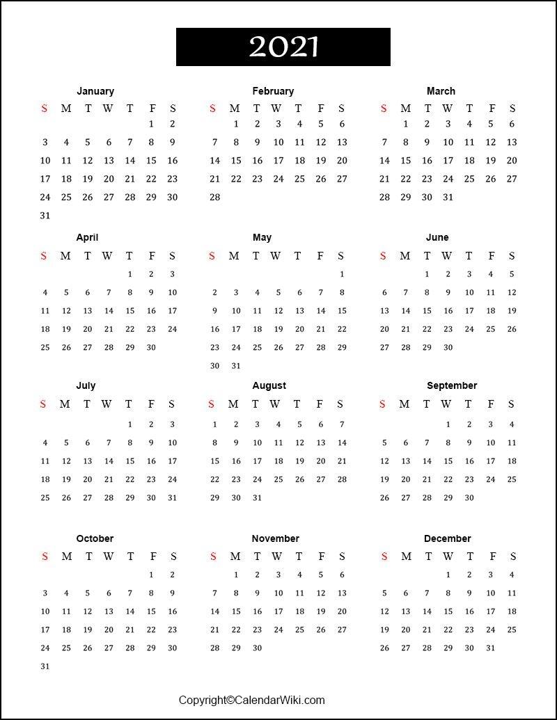 Free Printable Calendar 2021 Templates [Pdf, Word]