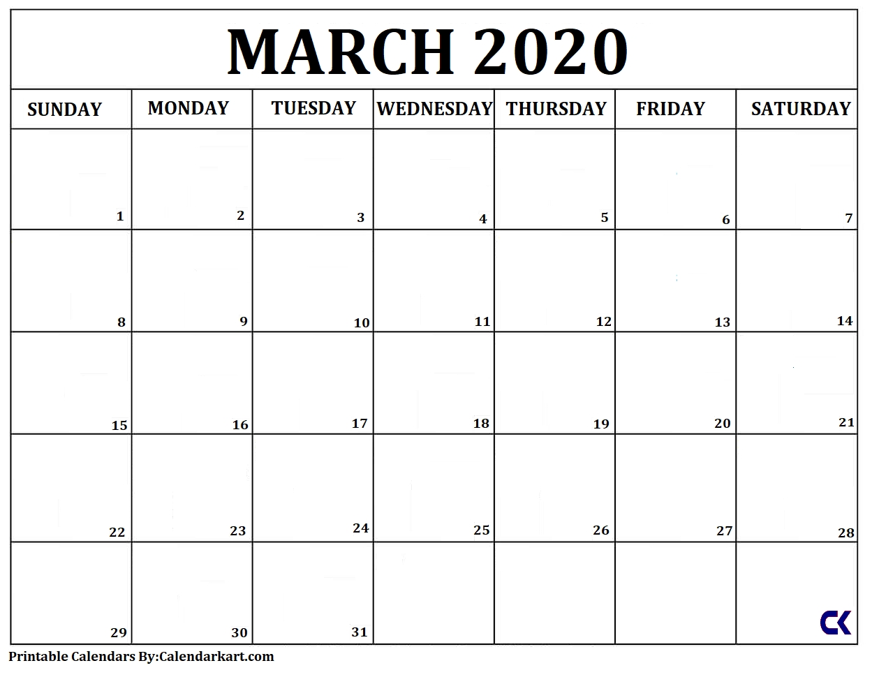 Free Printable Calendars 2020 And 2021: Monthly & Yearly