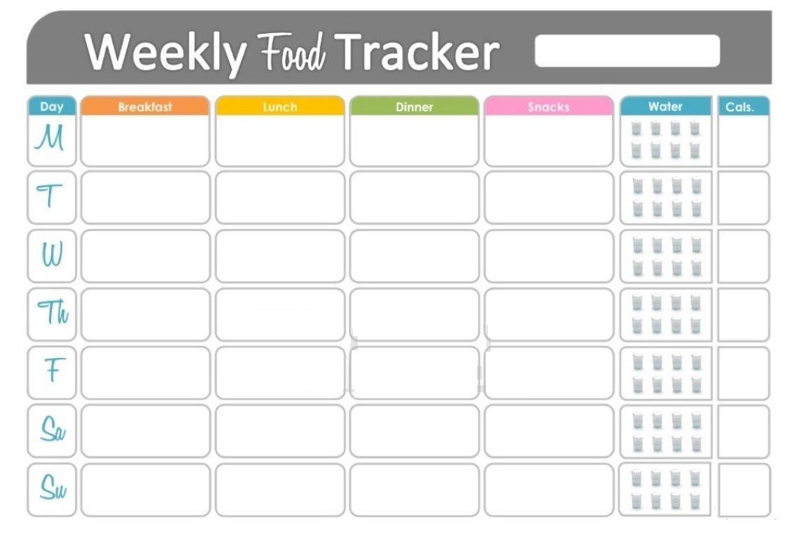 Free Printable Fitness Food Tracker | Fitness Tracker