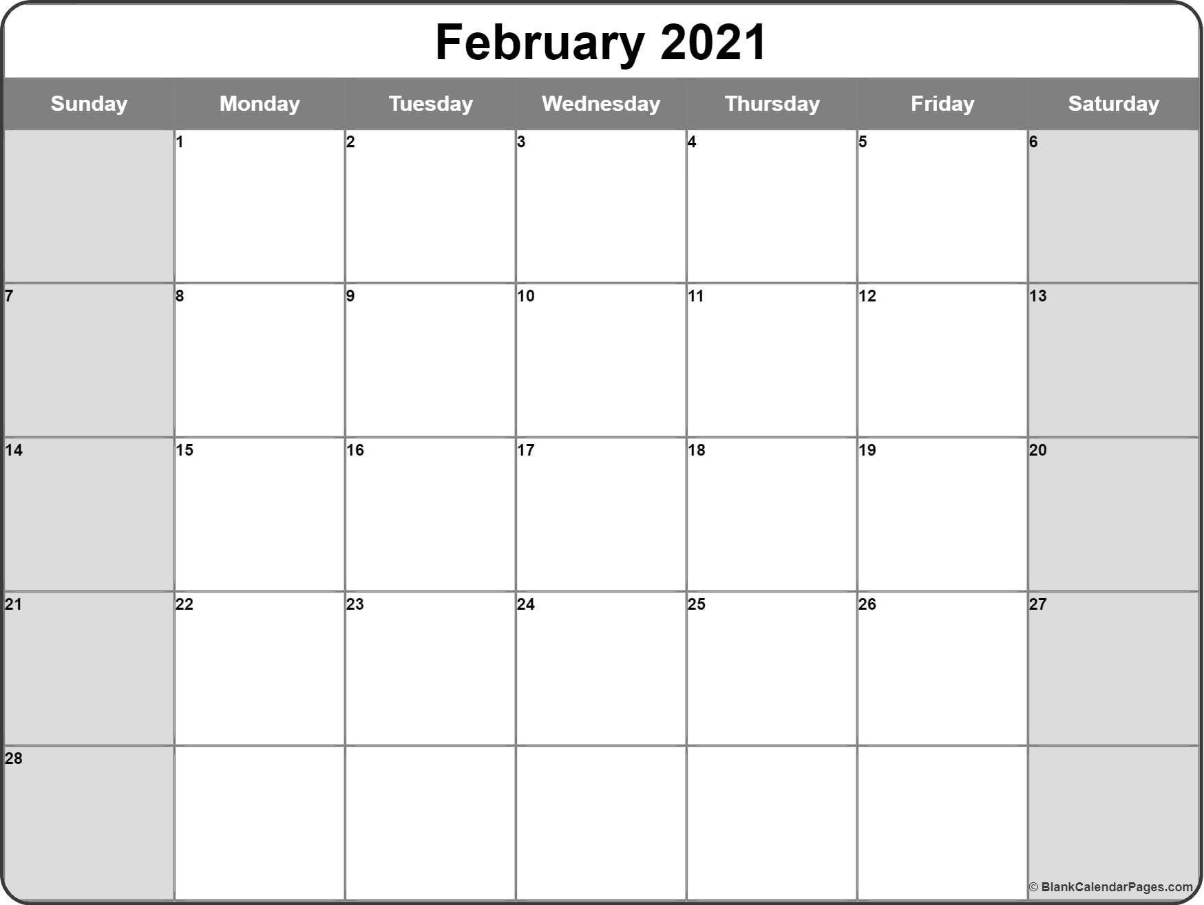 Free Printable Monthly Calendar 2021 Monthly – Welcome To