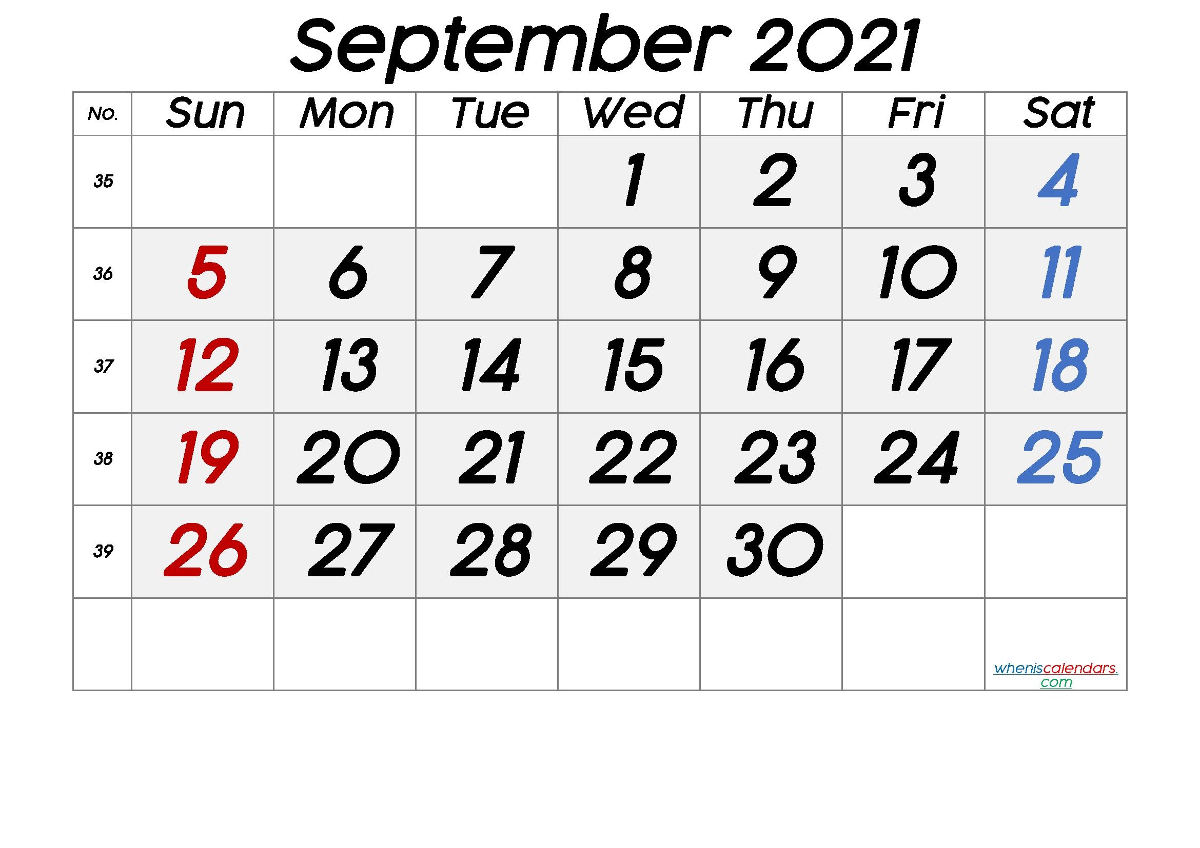 Free Printable September 2021 Calendar (Premium) In 2020