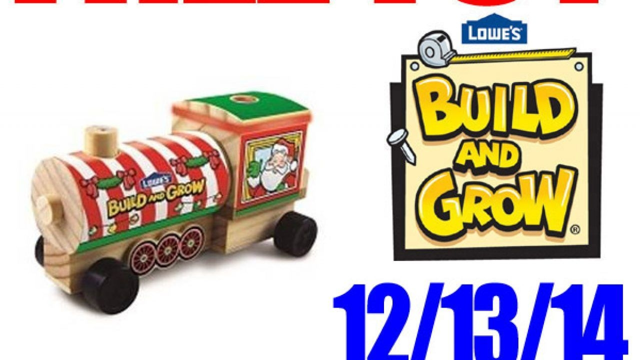 Free Toy Holiday Train Engine At Lowe'S – Free Build And