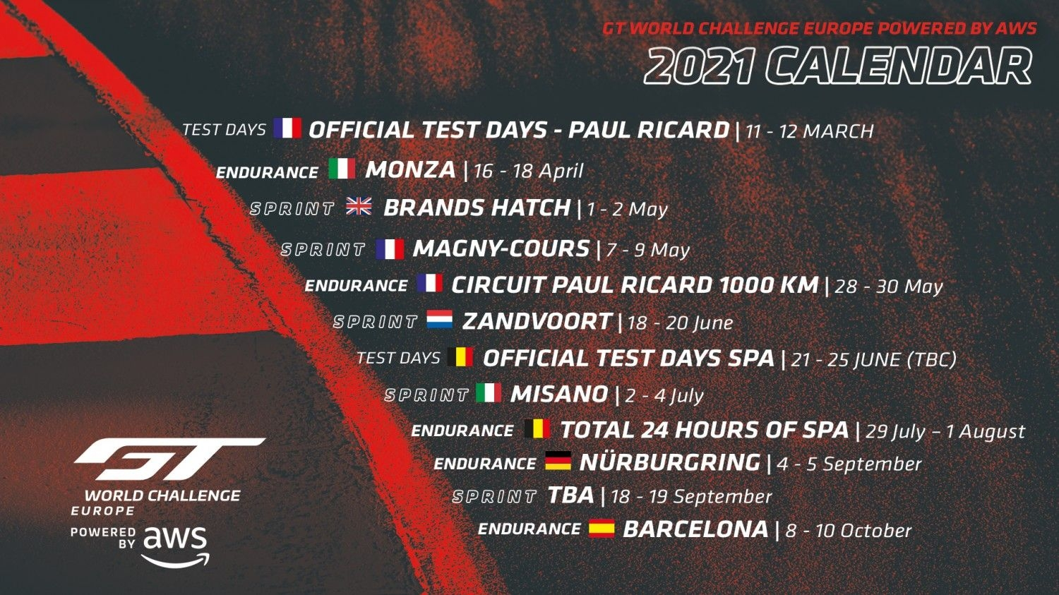 Further Developments Confirmed For 2021 Calendar With Magny
