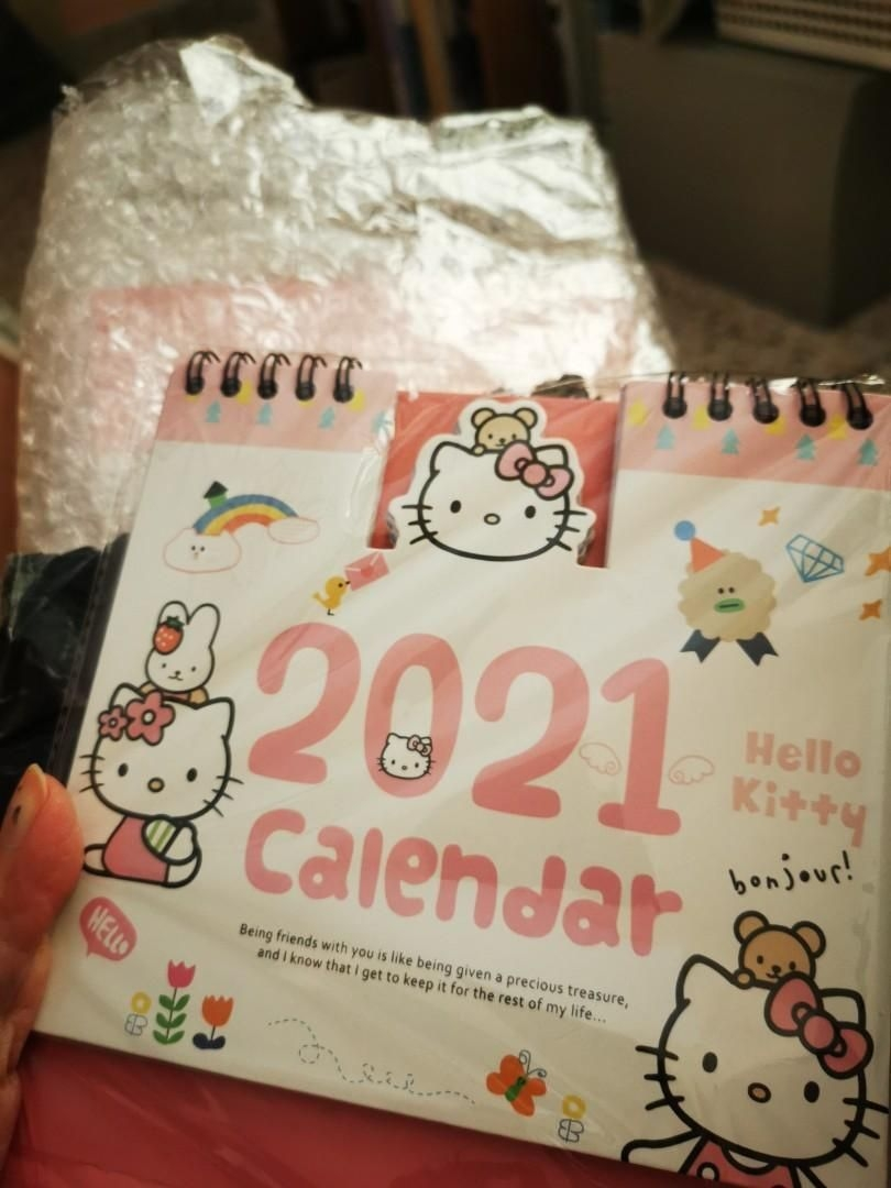 Hello Kitty 2021 Desk Calendar, Books & Stationery