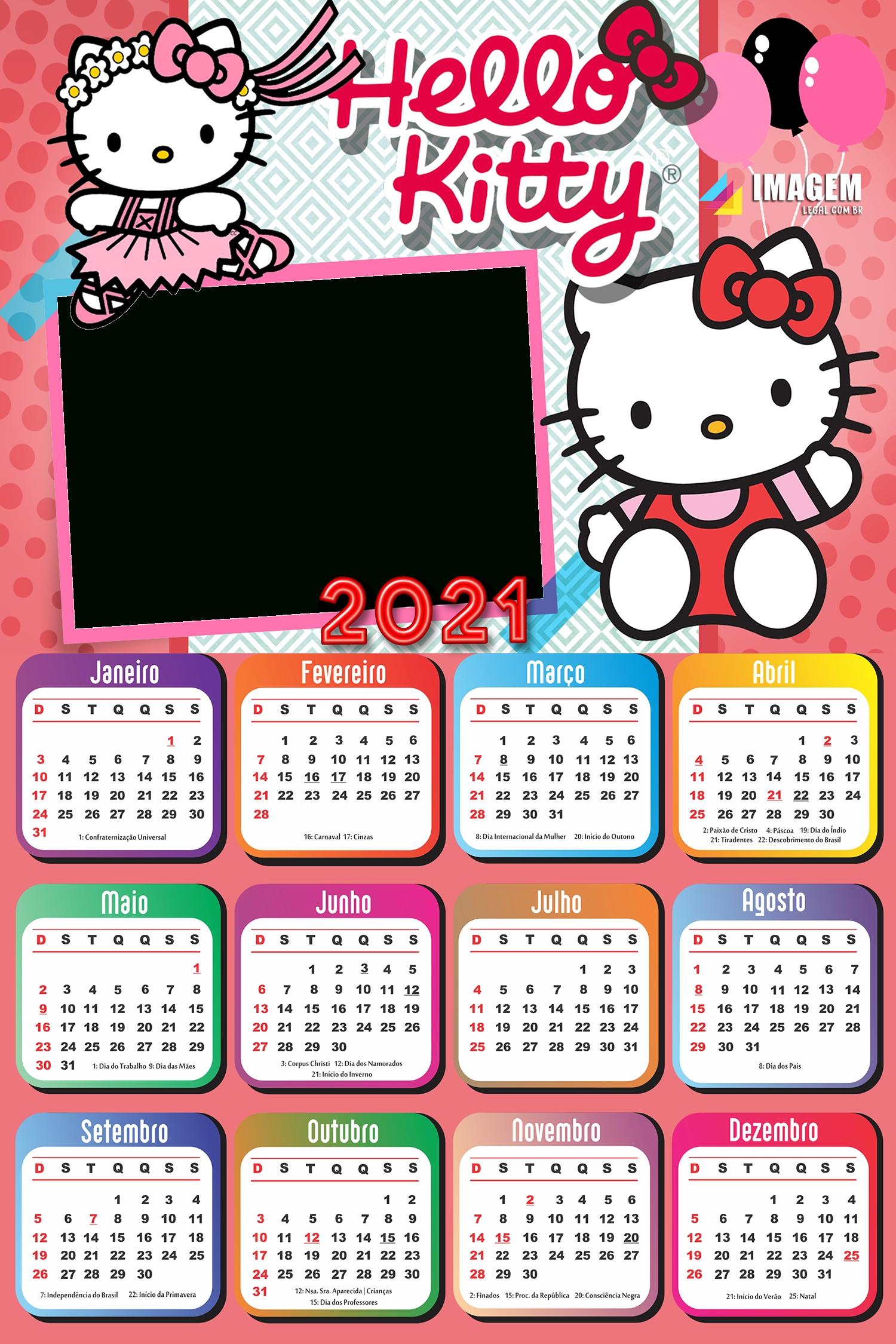 Hello Kitty Toys Calendar 2019 Frame Photo Montage Free