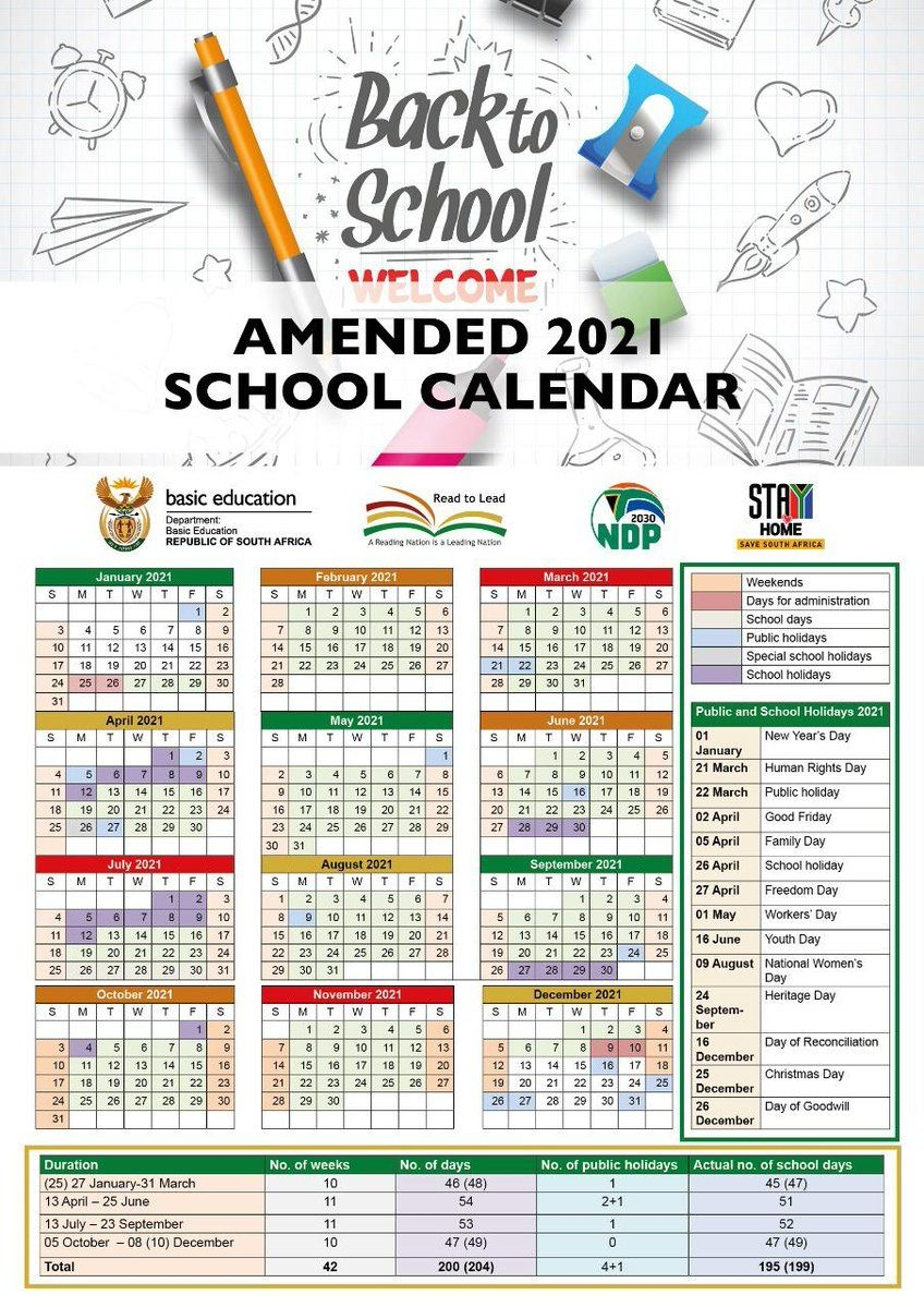 Here'S The Amended School Calendar For 2021 - Htxt.africa