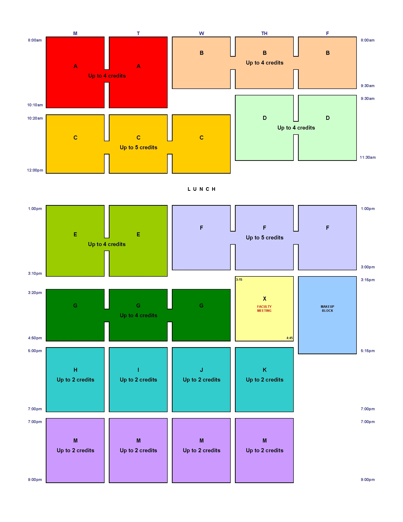 Hls Block Schedule   Harvard Law School