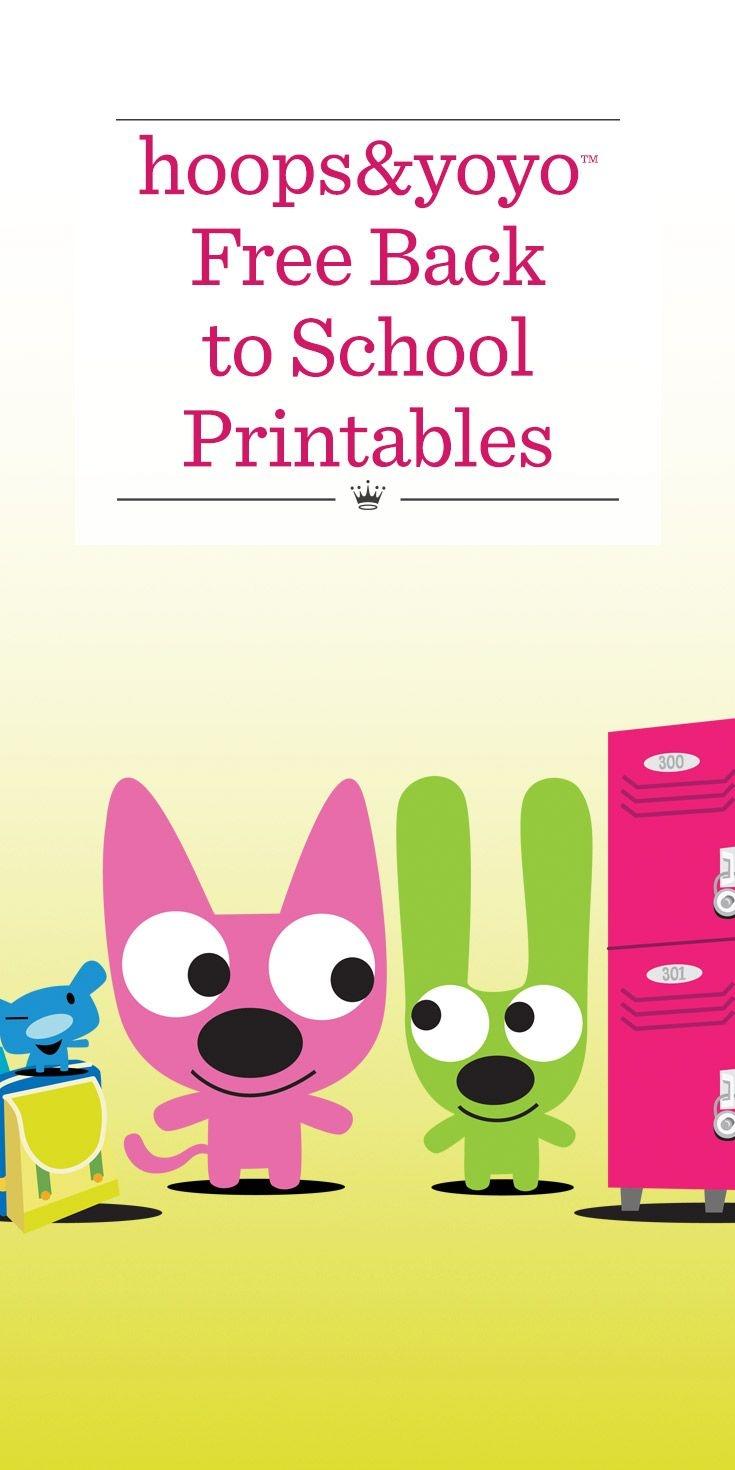 Hoops And Yoyo Free Back-To-School Printables | Hallmark