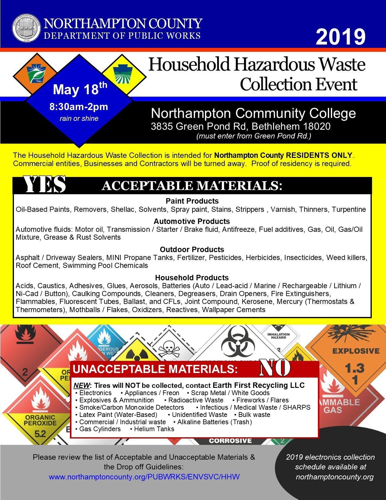 Household Hazardous Waste Collection Event – Northampton