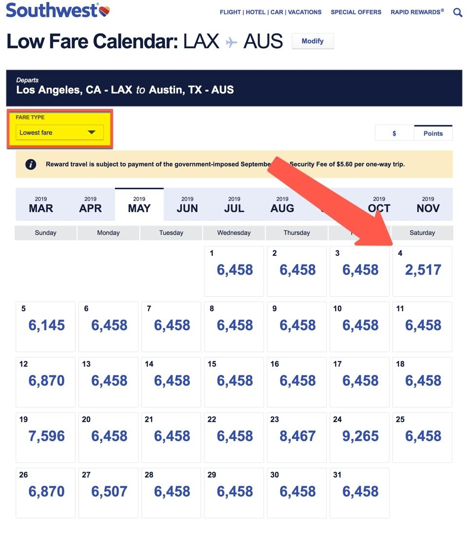 How To Use Southwest Points For Award Flights | Million Mile