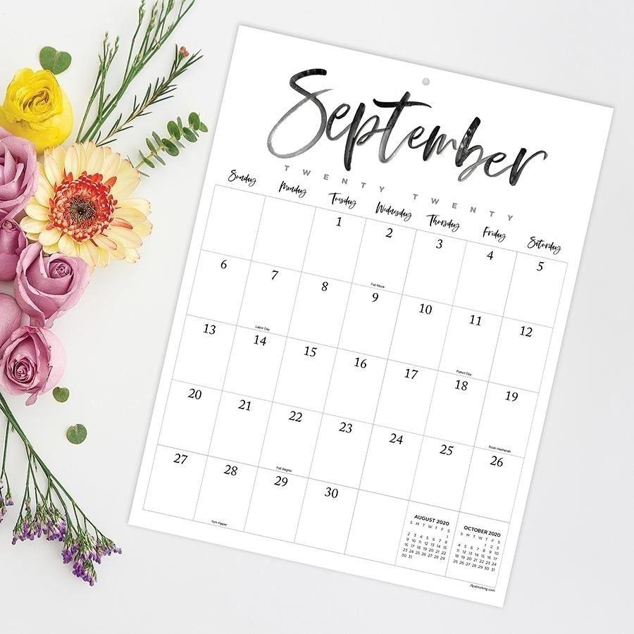 July 2020-June 2021 9X12 Handwritten Script Mini Monthly Art Poster Calendar