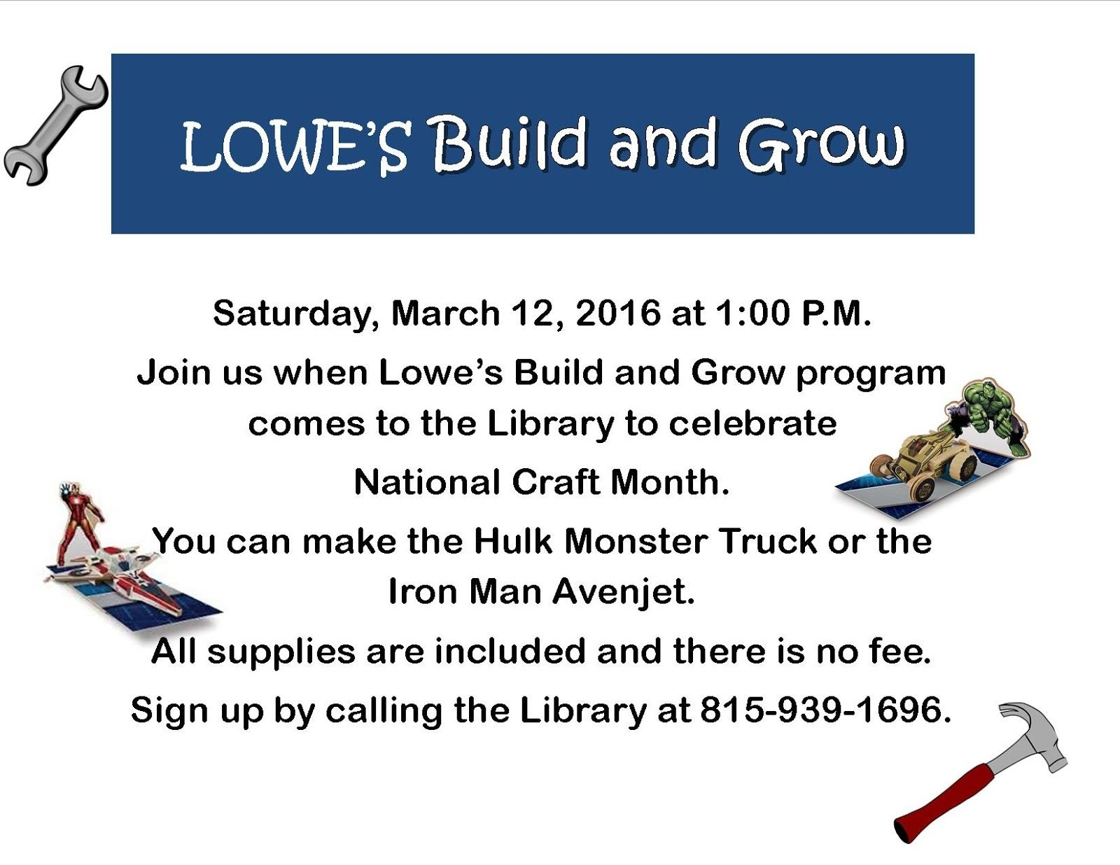 Limestone Township Library District: March 2016
