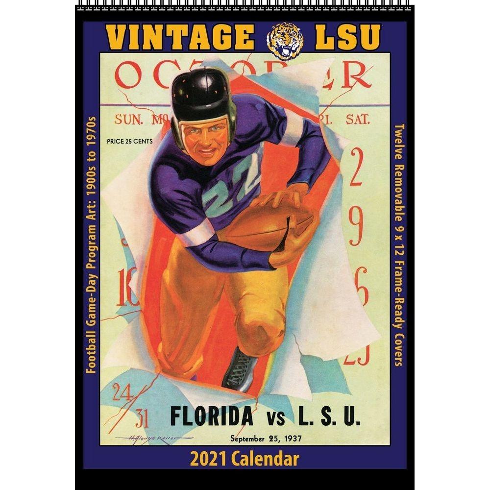 Louisiana State Vintage Football Wall Calendar - Walmart