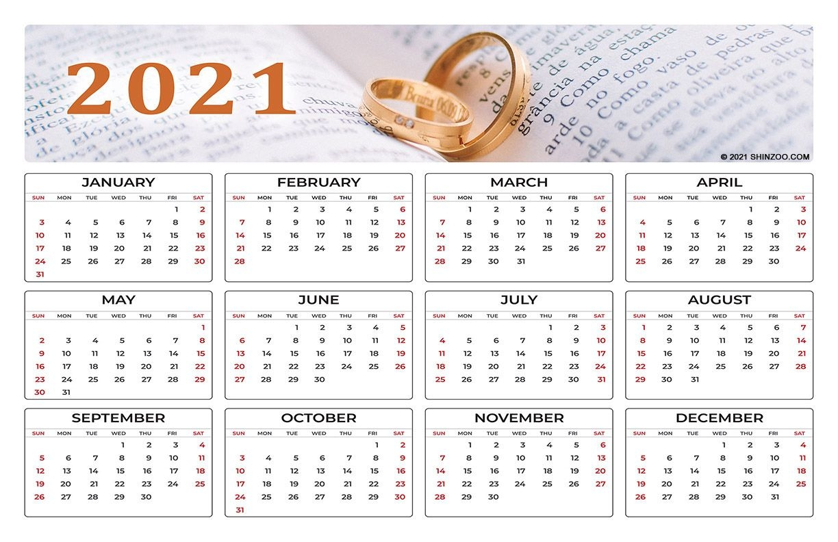 Love Is Forever: 2021 Calendar 11X17 Printable Template