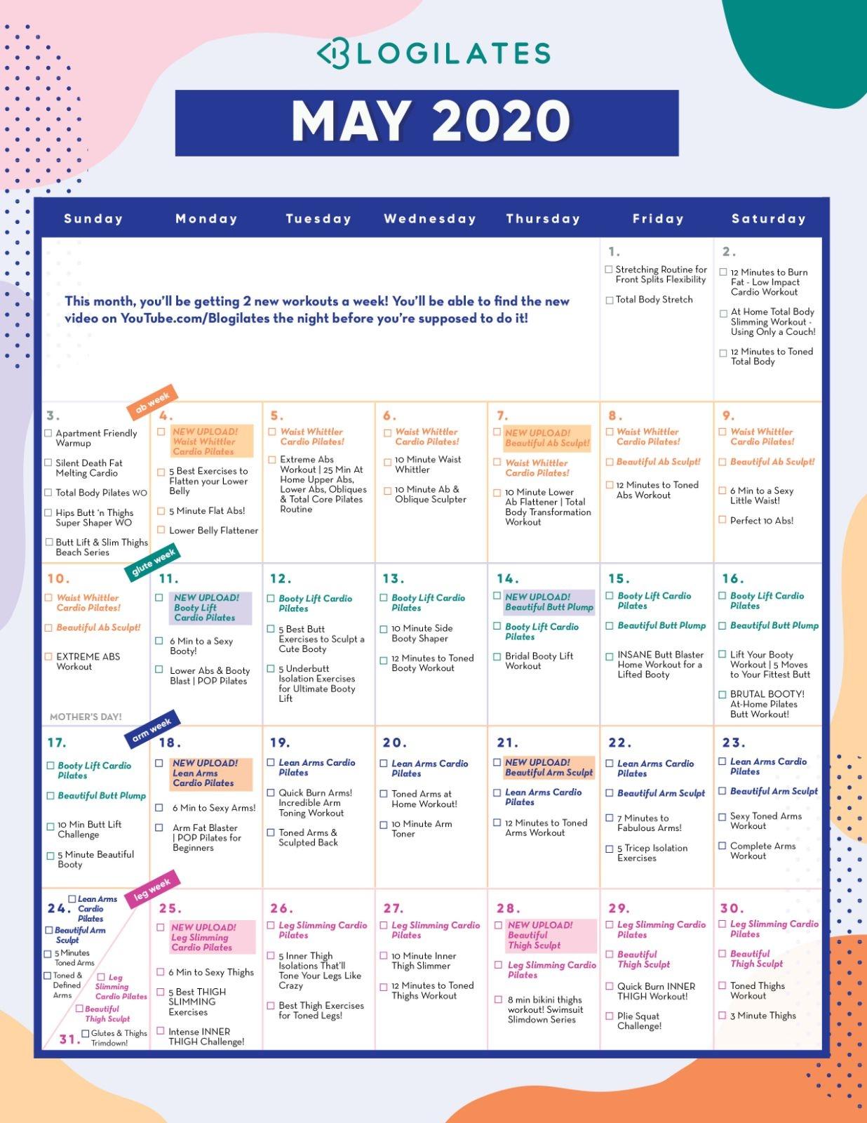 May 2020 Cal - Large – Blogilates