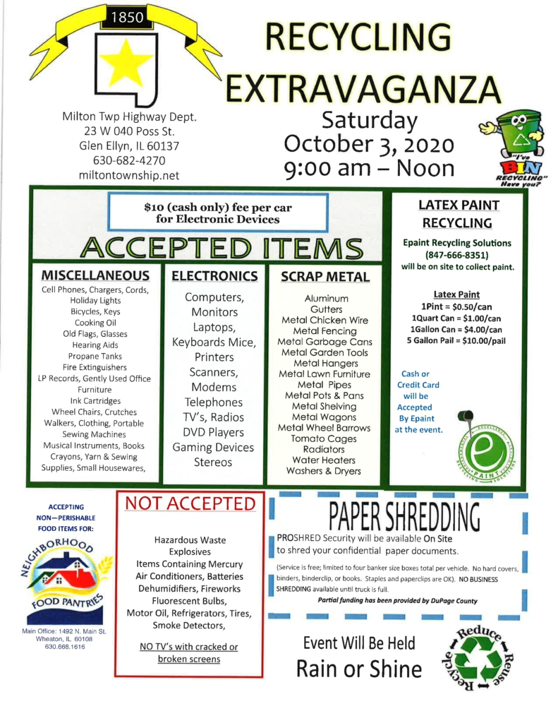 Milton Township Recycling Event - Scarce