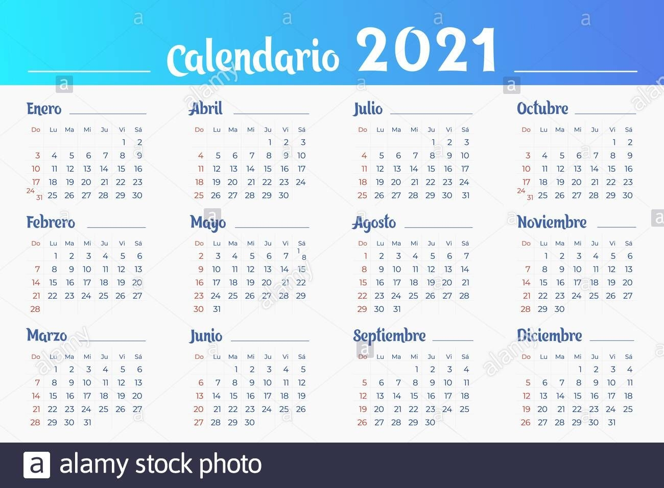 Months Calendar High Resolution Stock Photography And Images