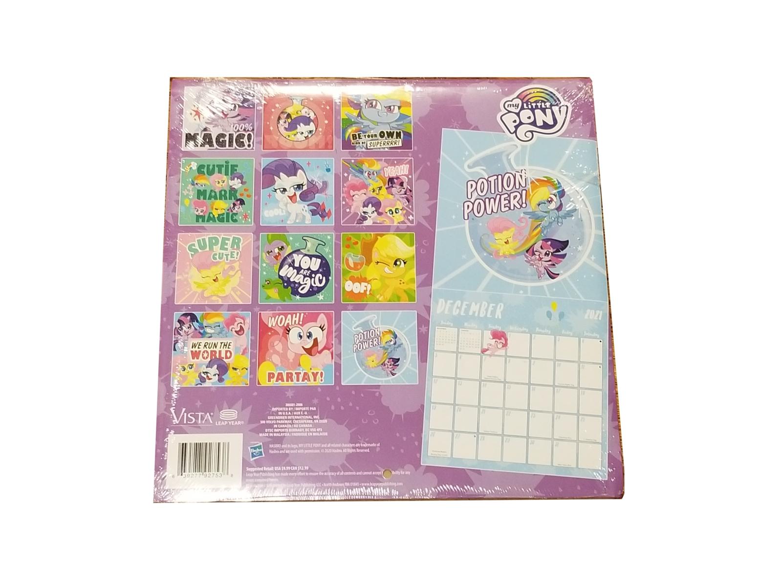My Little Pony 2021 16-Month Wall Calendar- Calendars