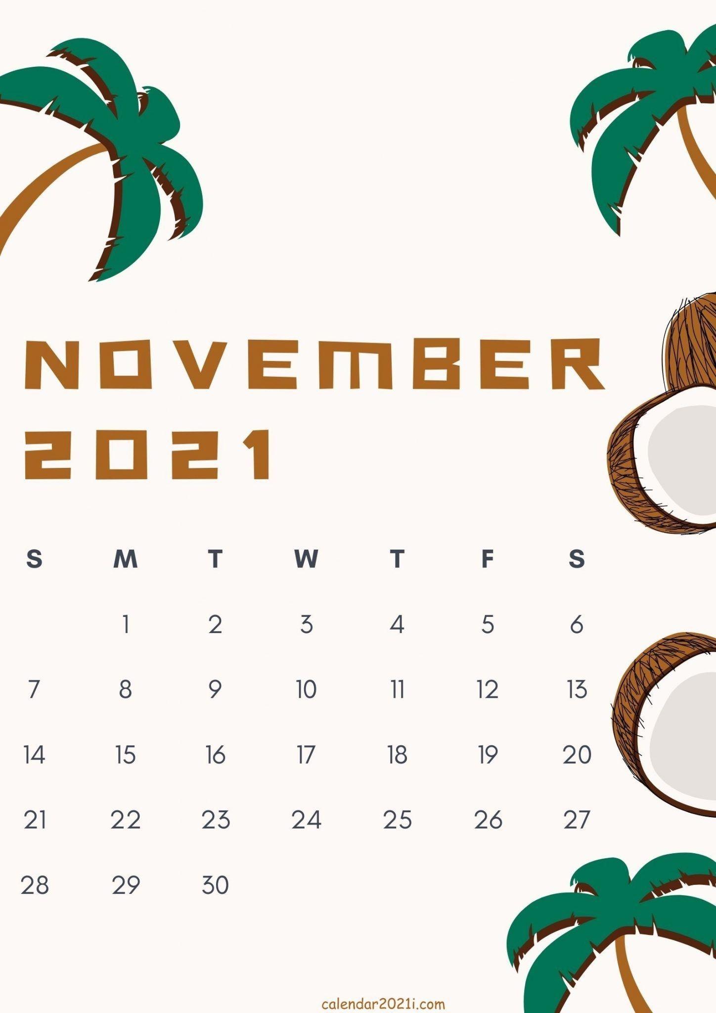November 2021 Cute Calendar Design In 2020 | Calendar Design