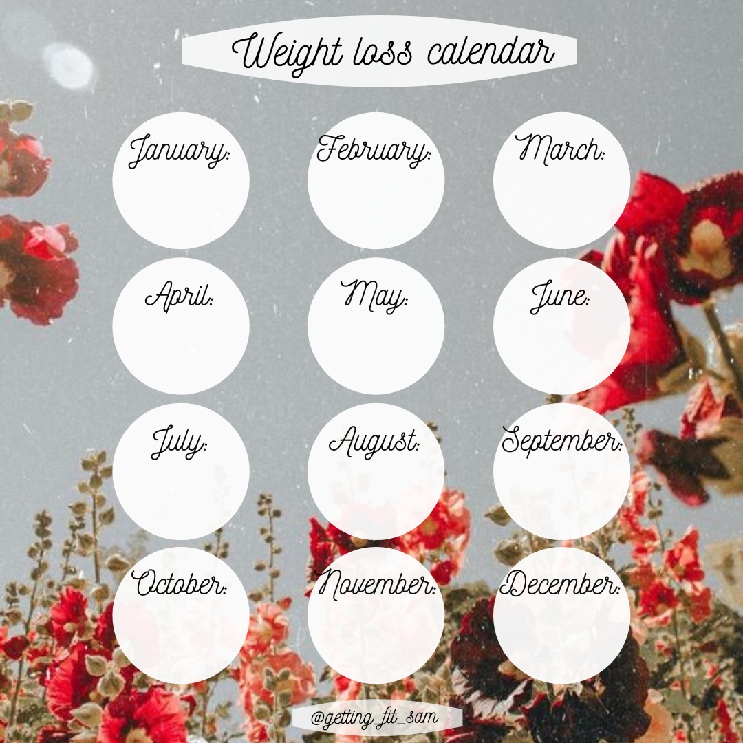 Pin On ~Square Yearly - Weight Loss Template Instagram~