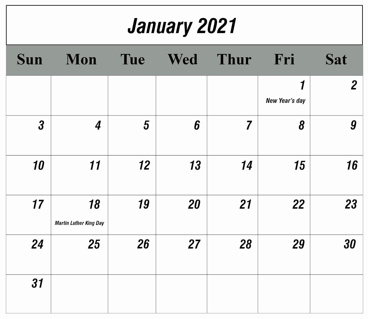 Printable Calendar 2021 In 2020 | Calendar Printables