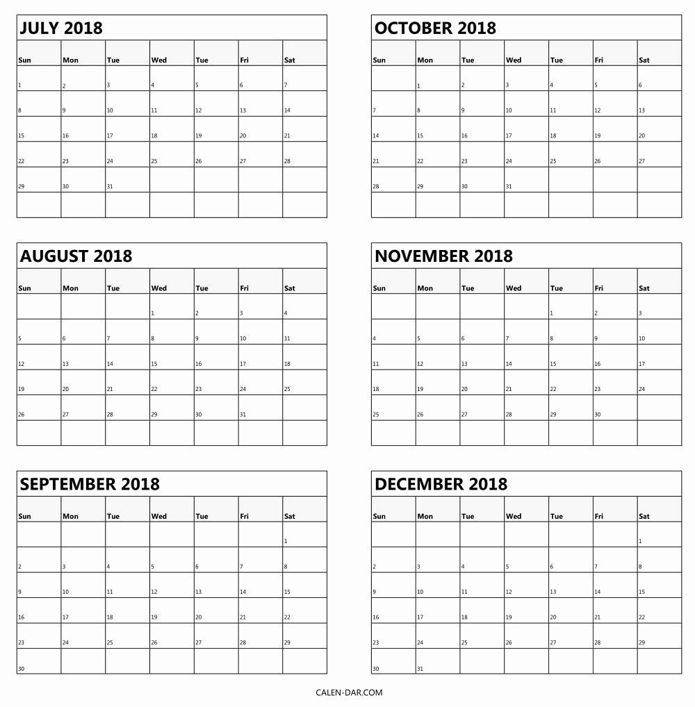 Printable Calendar 6 Months Per Page In 2020 | Calendar