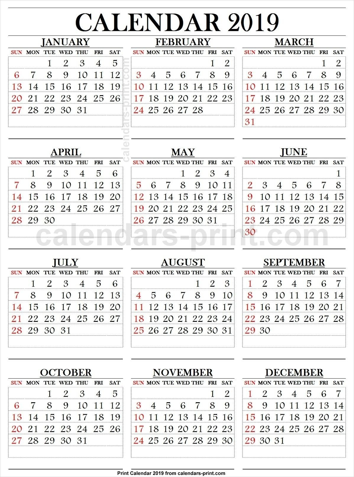 Printable Calendar Large Numbers In 2020 | Printable