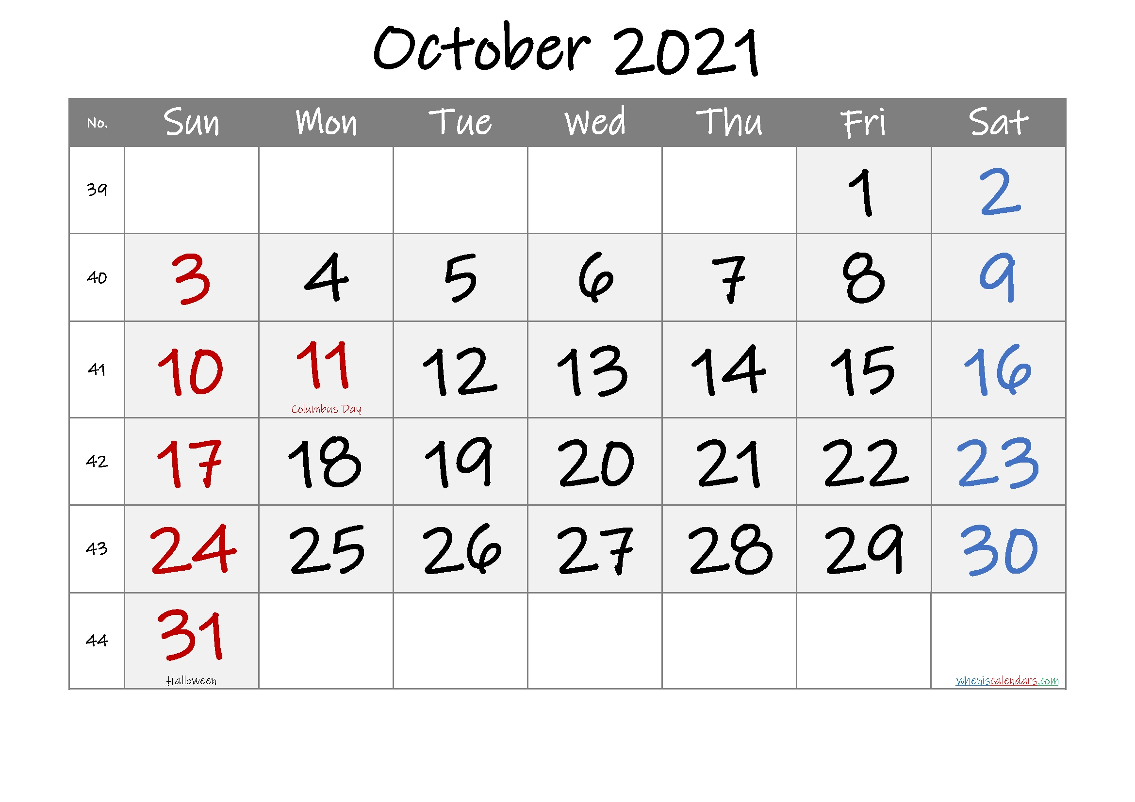 Create Your Printable 8 X 11 October 2021 Calendar | Get ...