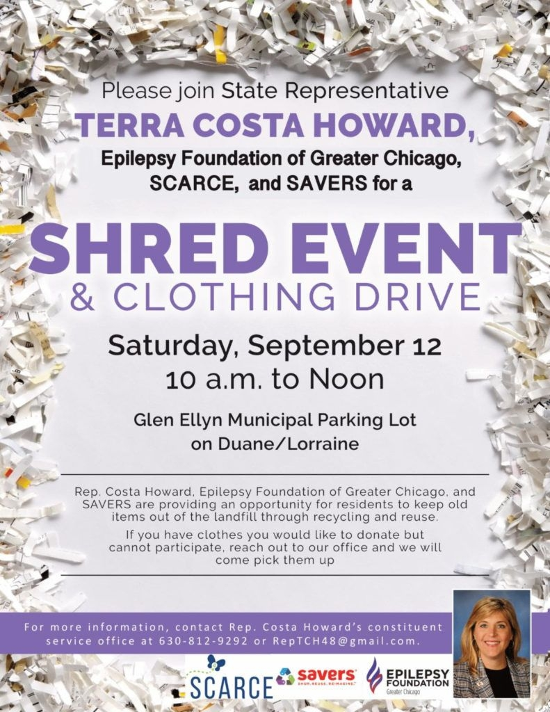 Rep. Terra Costa Howard Shred Event & Clothing Drive - Scarce