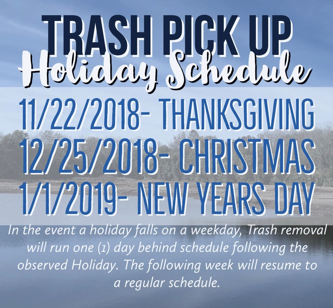 Republic Services - Trash Pick Up Holiday Schedule — City Of