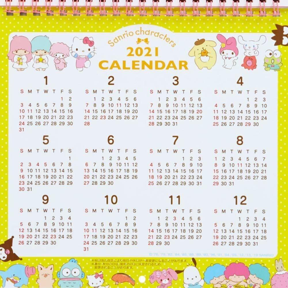 Sanrio Characters 2020 Wall Calendar M Ribbon Hello Kitty My Little Twin  Stars