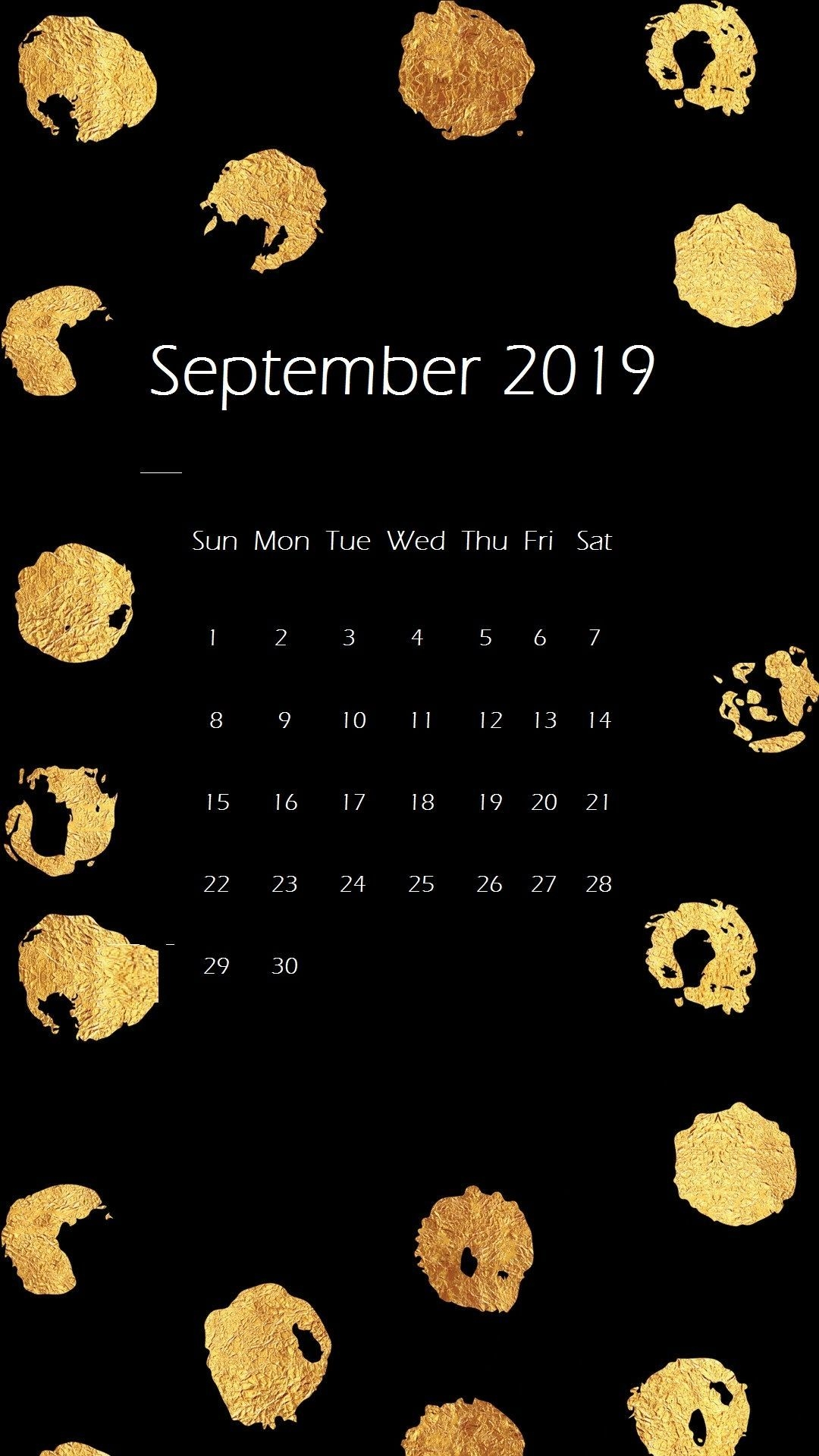 September 2019 Iphone Wallpaper Calendar Calendar