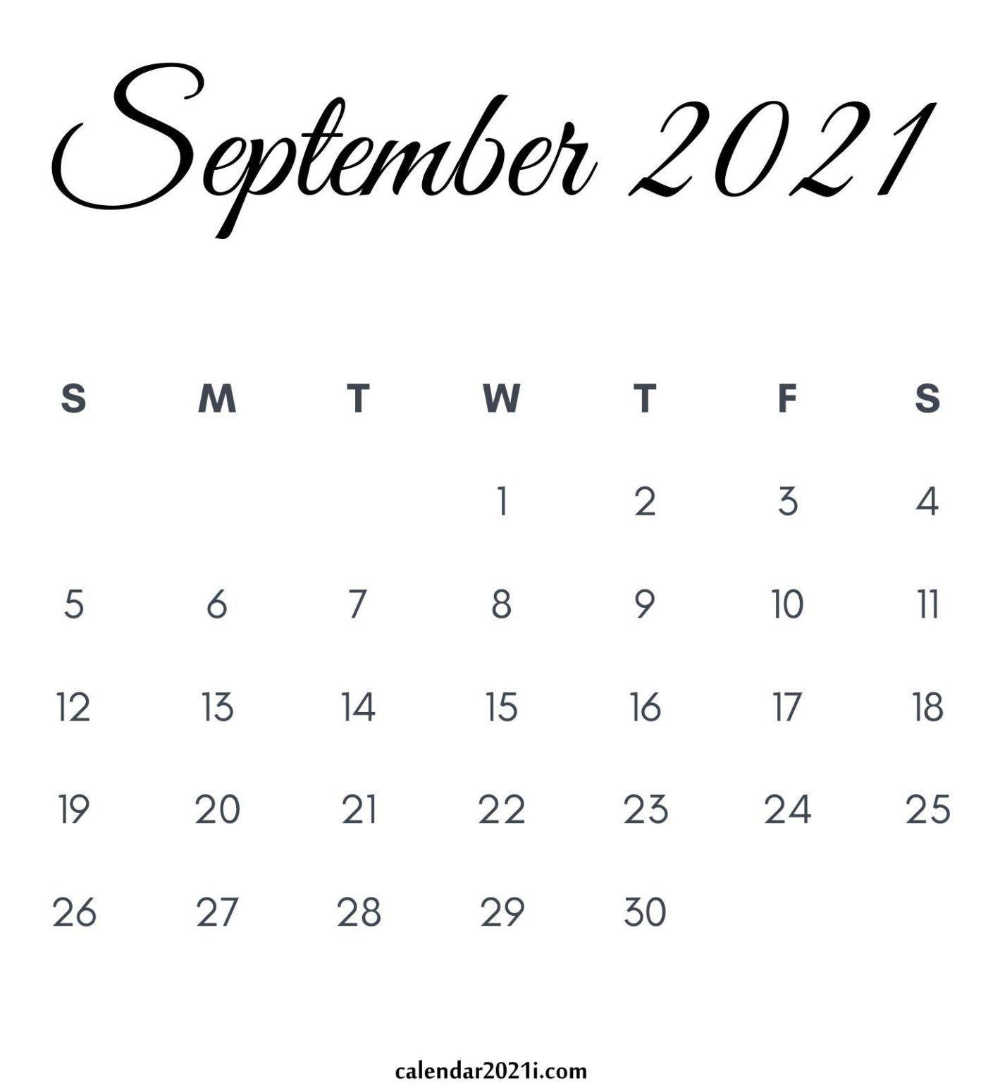 September 2021 Calendar Printable In 2020 | Monthly Calendar