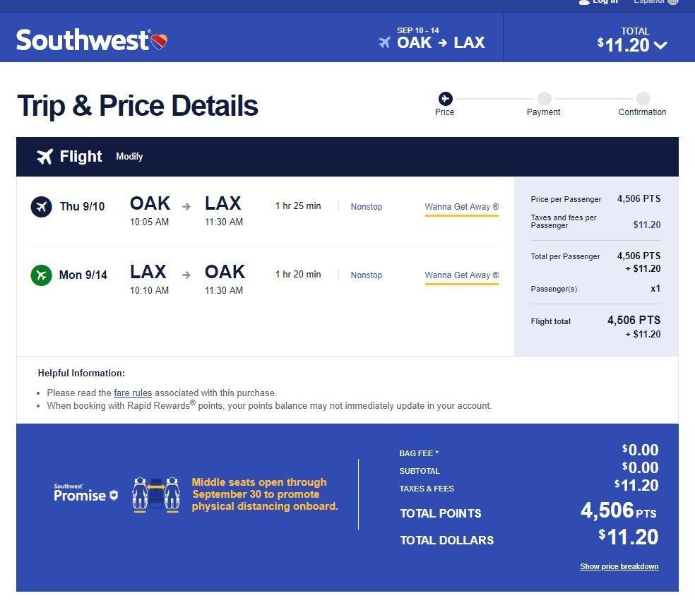 Southwest Flash Sale Drops Round-Trip Fares Below $80 On