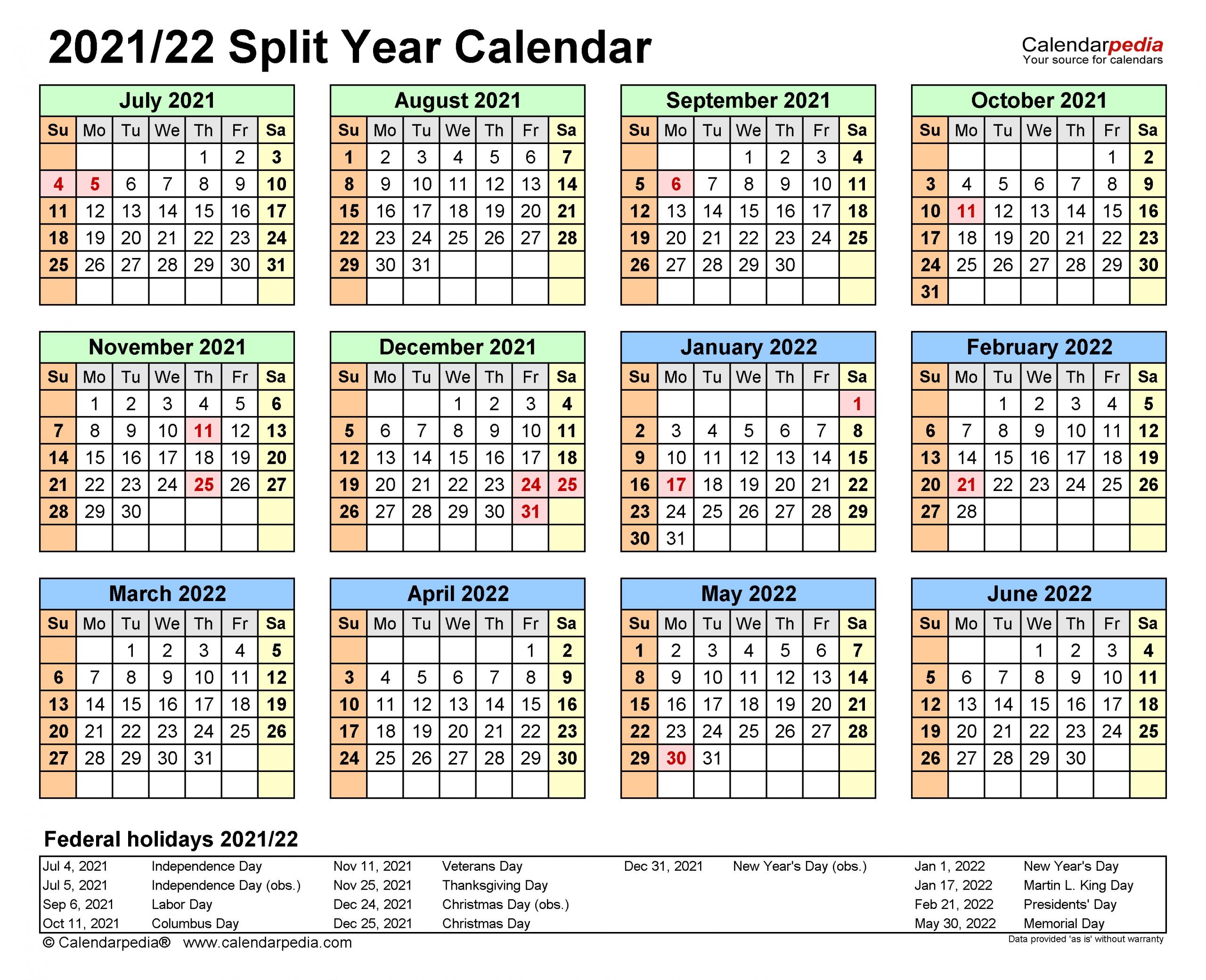 Depo Calendar 2022 Printable.Split Year Calendars 2021 2022 July To June Pdf Templates Get Your Calendar Printable