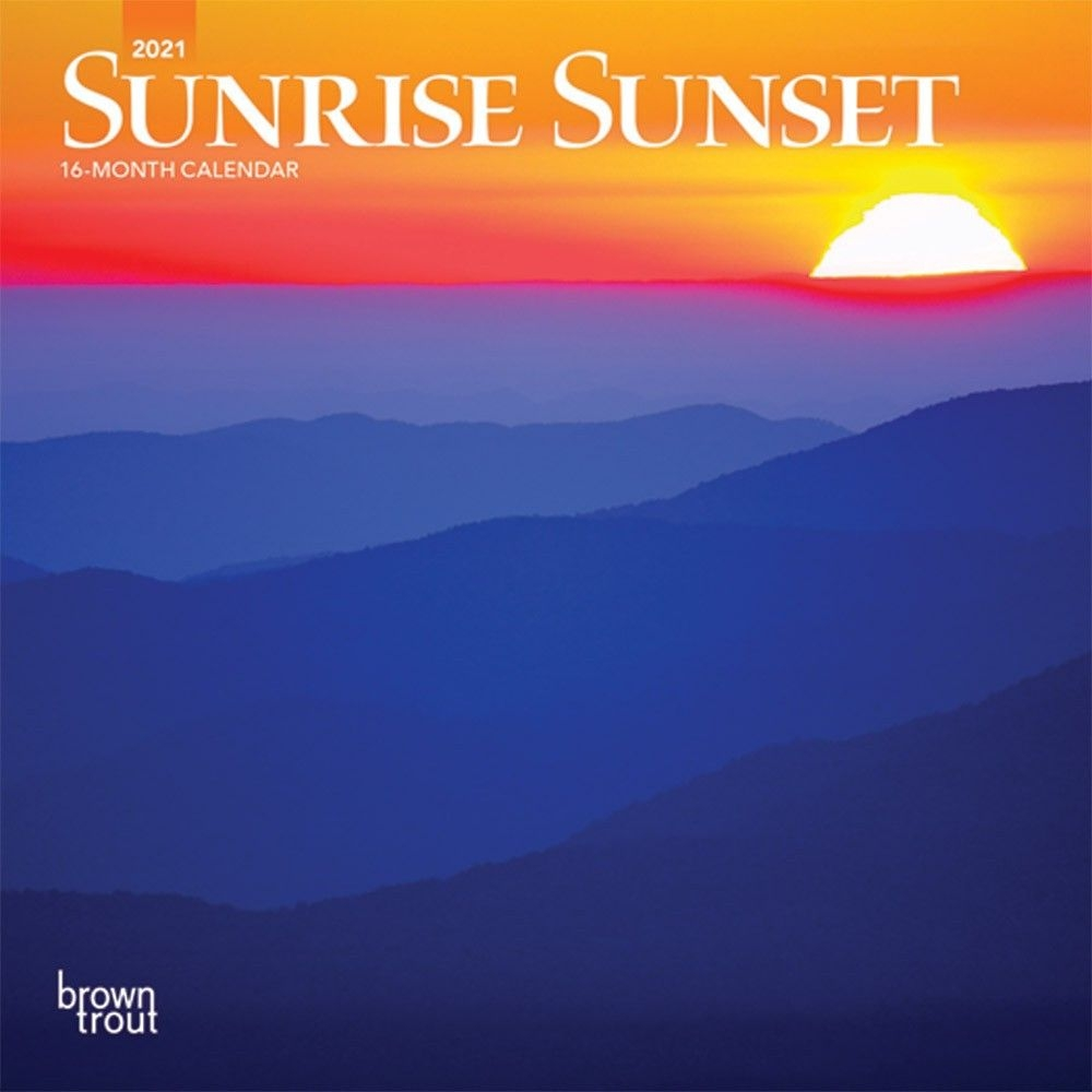 Sunrise Sunset 2021 7 X 7 Inch Monthly Mini Wall Calendar