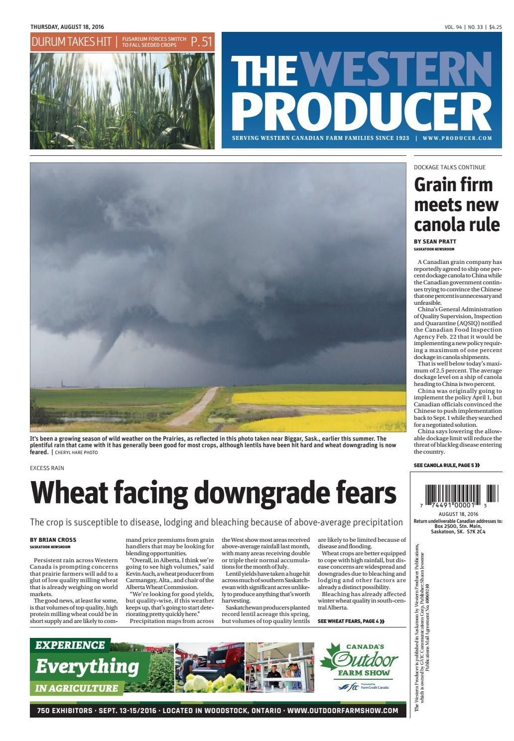 The Western Producer August 18, 2016 By The Western Producer