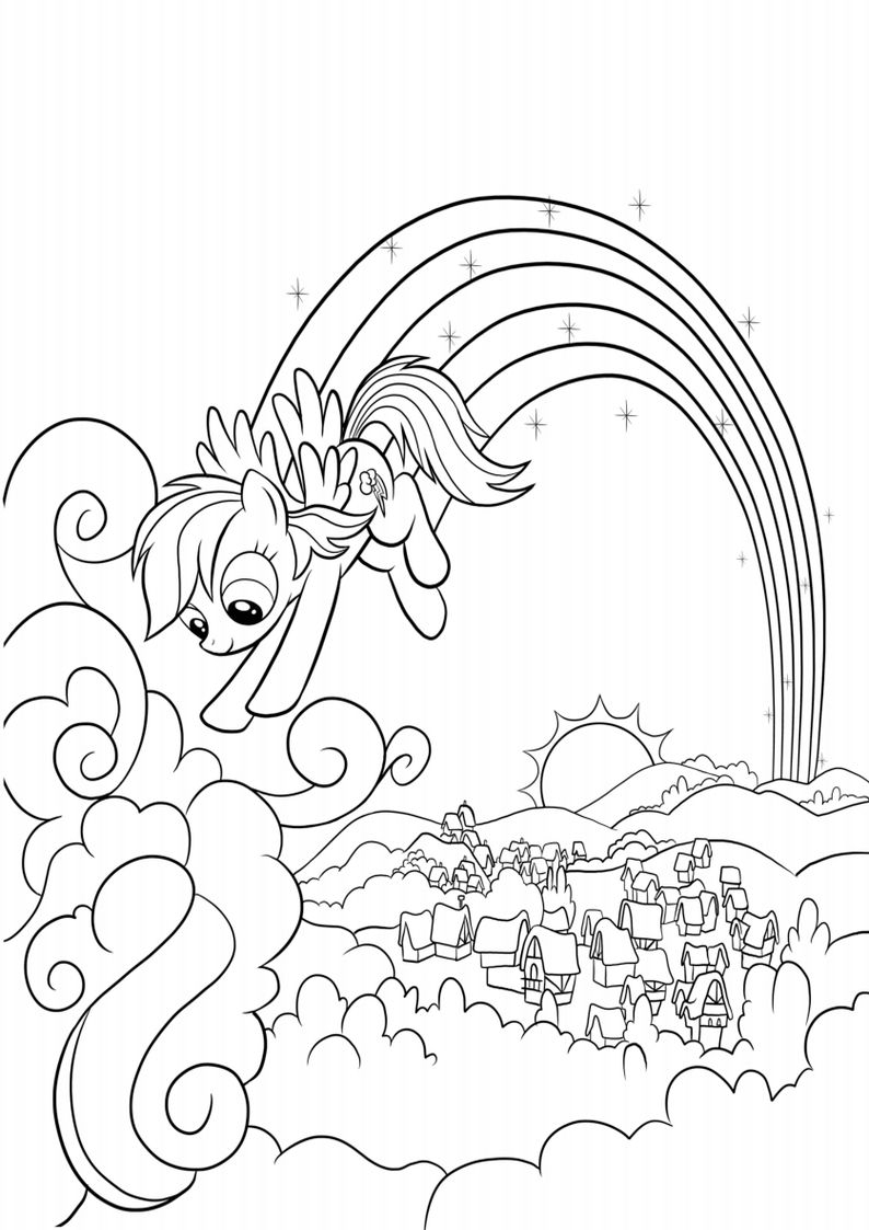 Top 30 + My Little Pony Coloring Pages - Printable Calendar