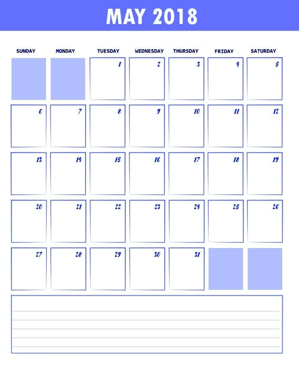 Unique Waterproof Printable Calendar | Free Printable