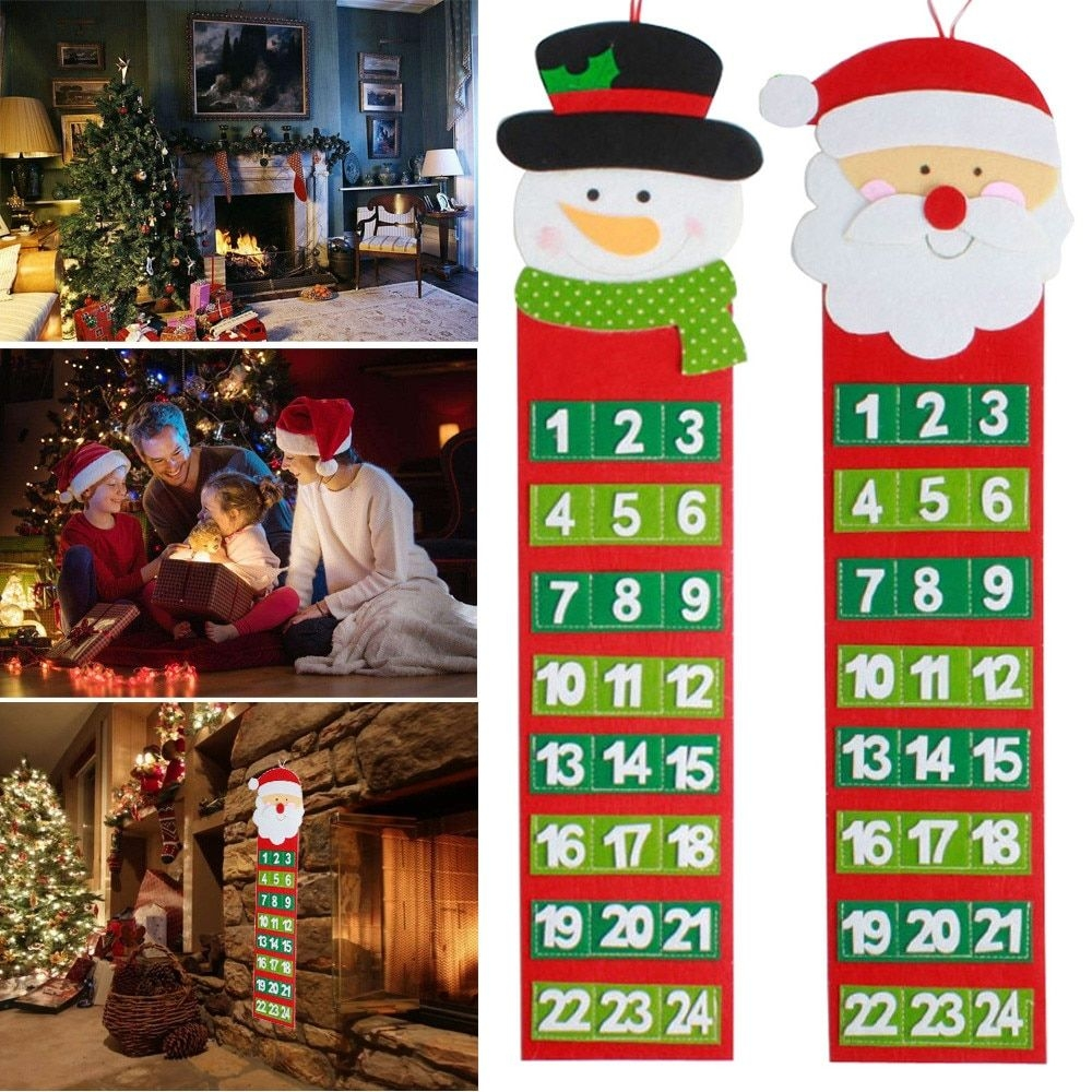 Us $3.07 42% Off|2 Styles Christmas Old Hairy Man Calendar Advent Countdown  Calendar Wall Calendar Children Gift Festival Products Funny L*5|Advent