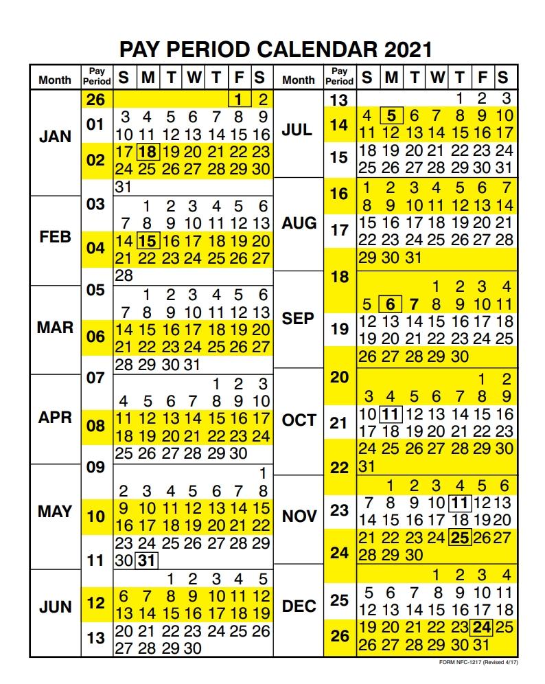 Usda Payroll Calendar 2021 | Payroll Calendar