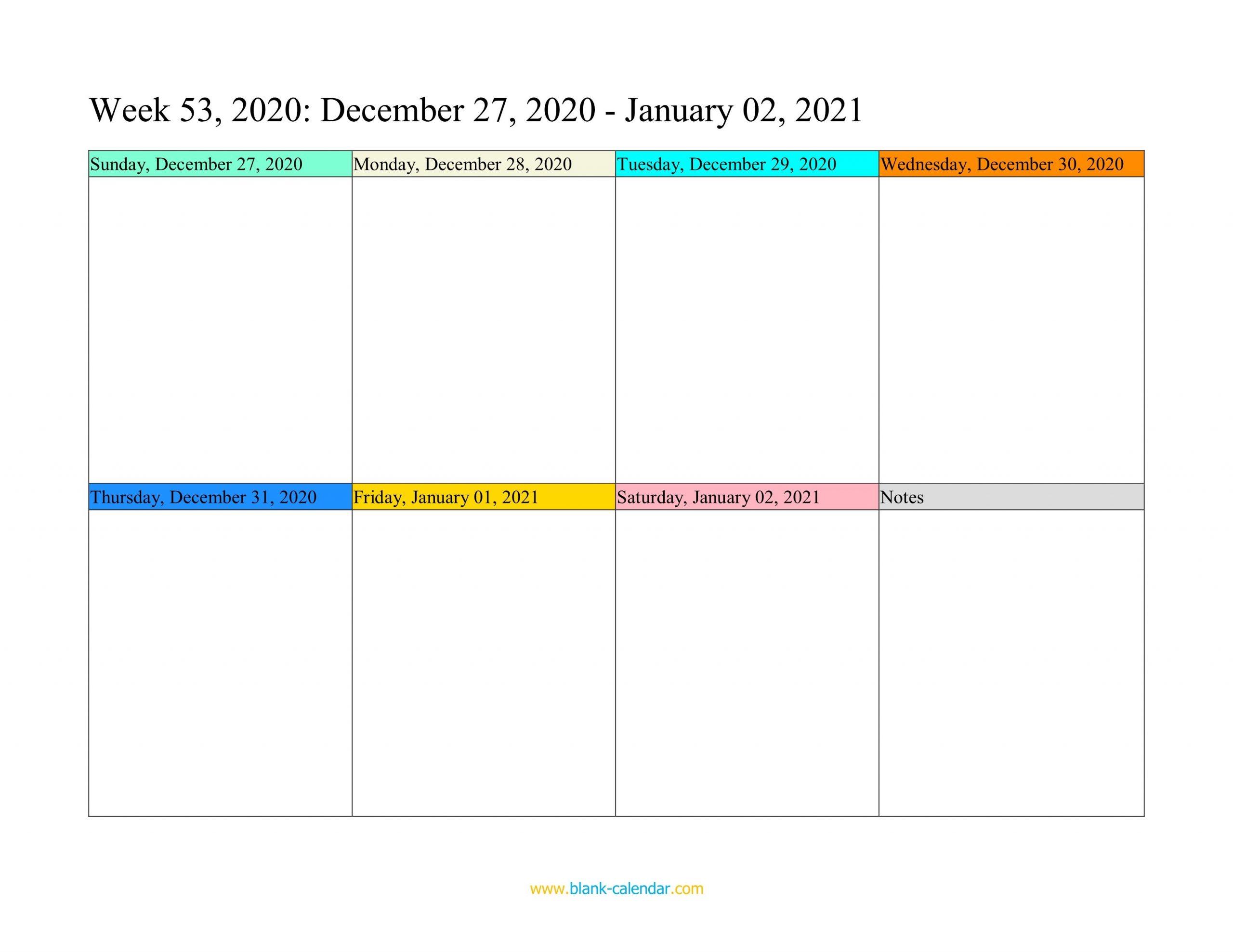 Weekly Calendar 2021 (Word, Excel, Pdf)