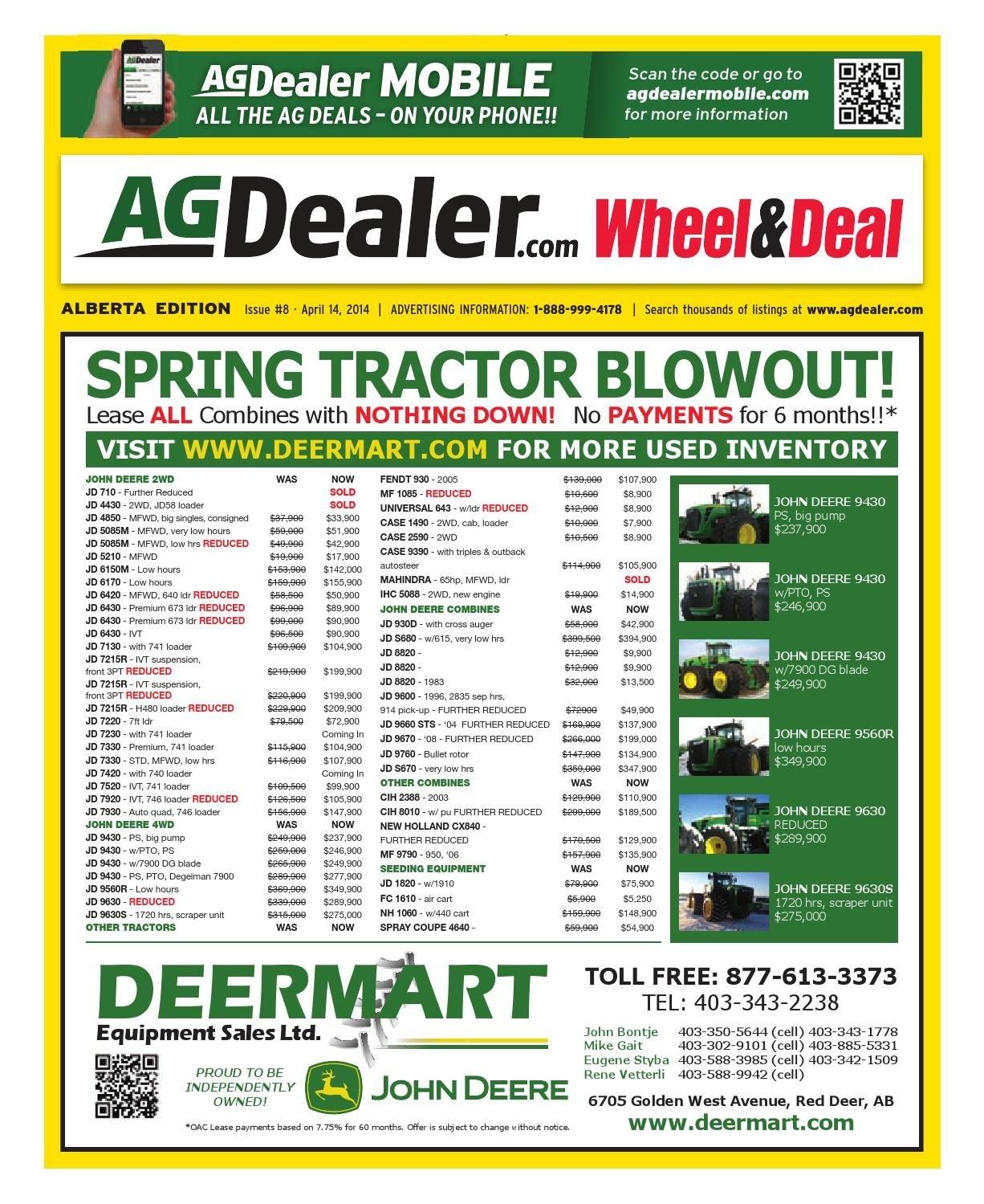 Wheel & Deal Alberta, April 14, 2014 By Farm Business
