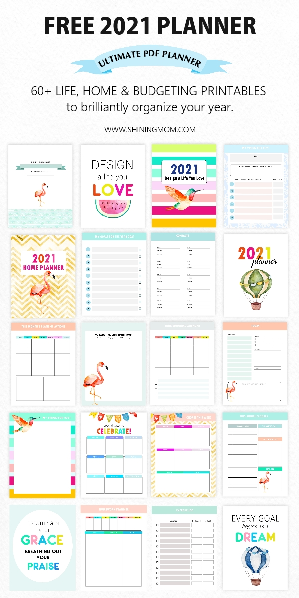 12 Free Printable Planners For 2021 To Organize Your Life