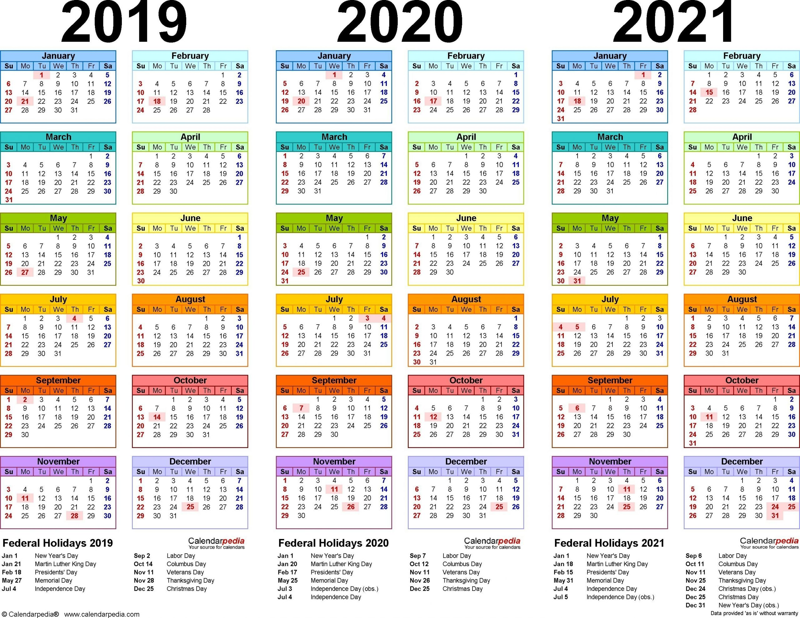 2 Year Calendar 2020-2021 | Calendar Printable Free
