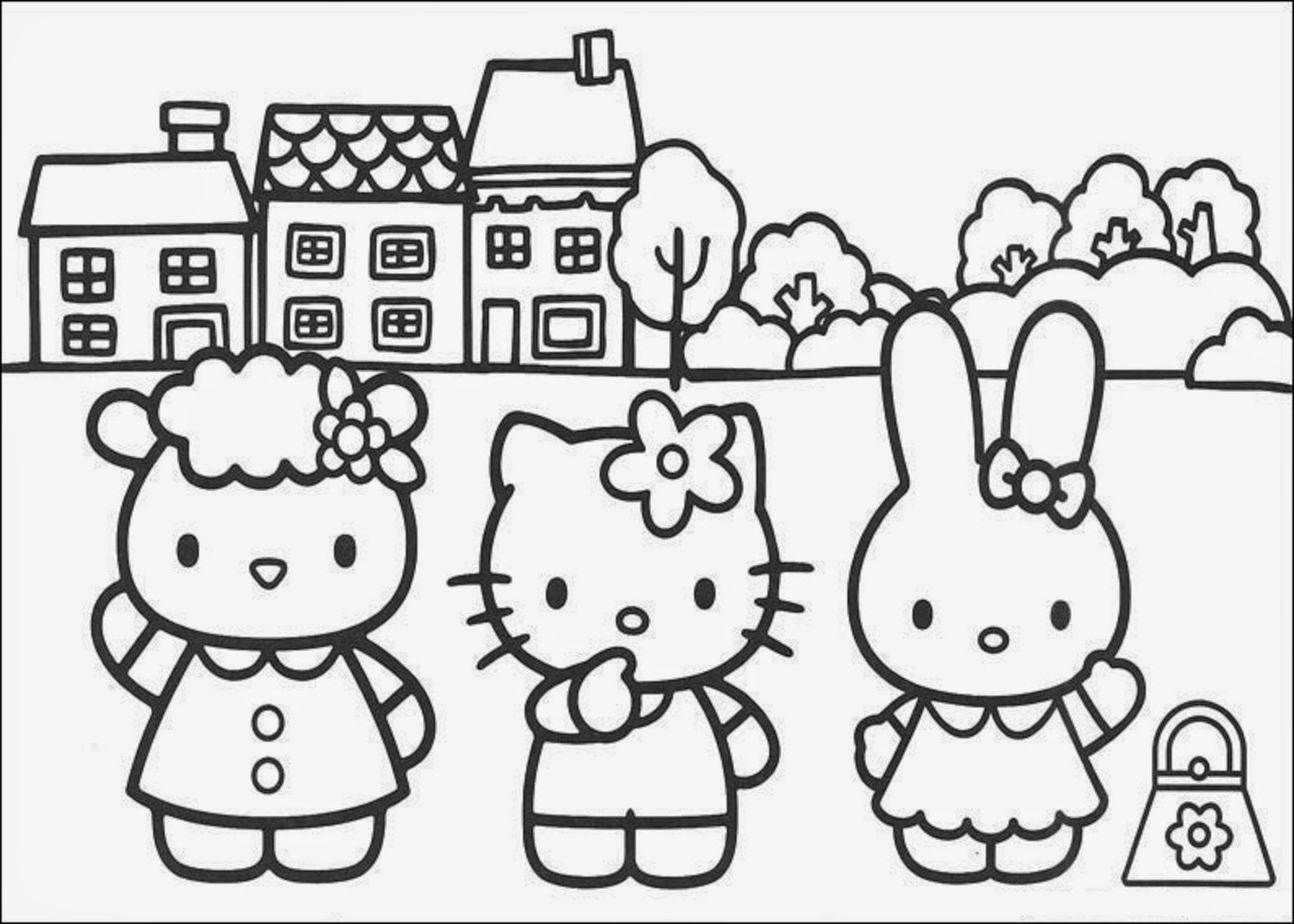 20+ Free Printable Hello Kitty Coloring Pages | Hello