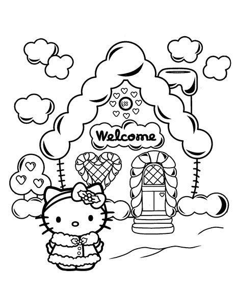 20+ Free Printable Hello Kitty Coloring Pages - Printable