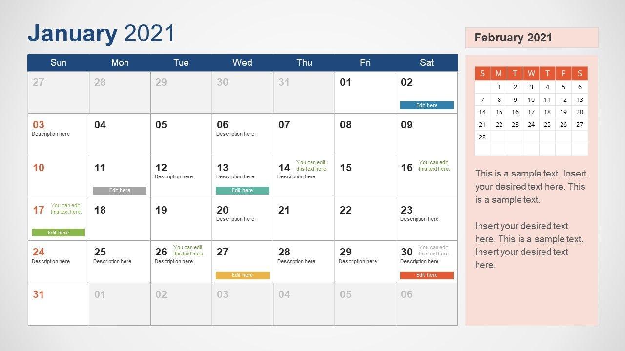 2021 Calendar Powerpoint Template - Slidemodel